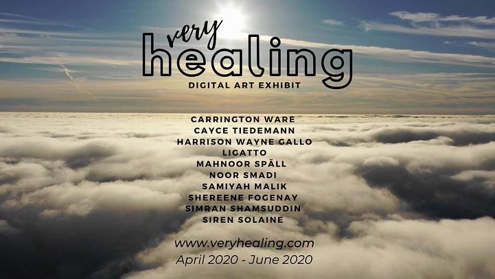 "Submit art to ""Very Healing,"" a digital art exhibit."