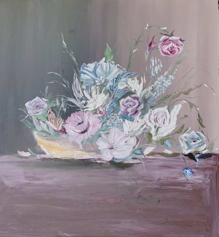 Oil Painting of flowers.